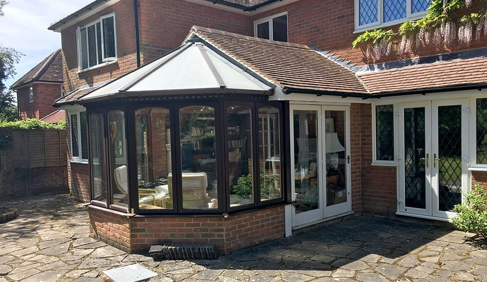 cliddesden conservatory before