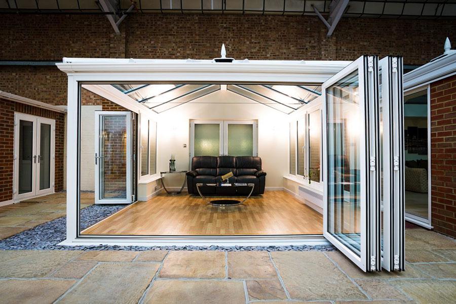 bi-fold door on conservatory