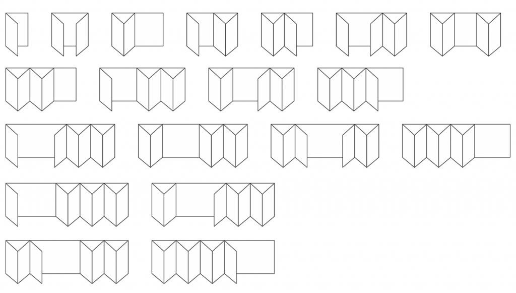 Bi folding door configurations