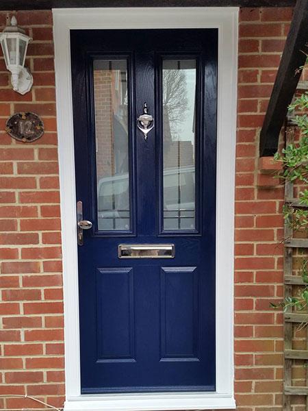 Steel Blue Composite Door in Basingstoke