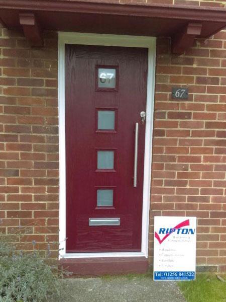 Dark Red Composite Door in Basingstoke