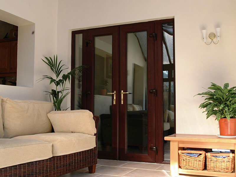 Wood effect French Doors