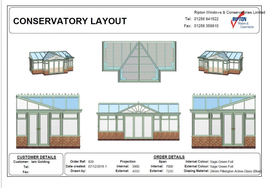 Conservatory Side plan Basingstoke