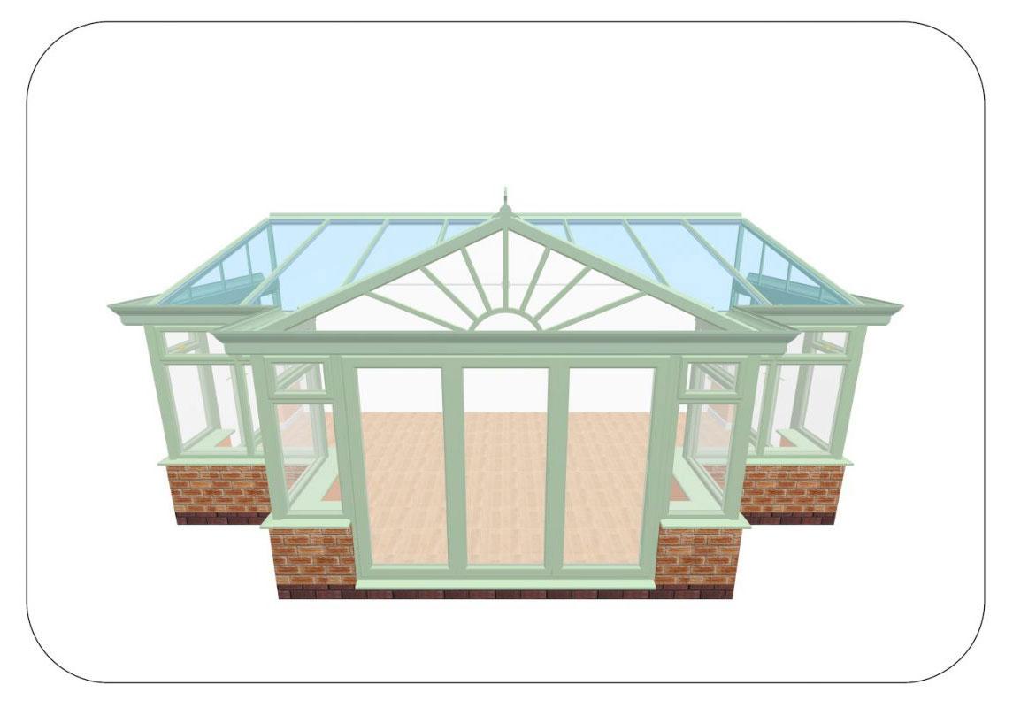 Conservatory Design Rendering Basingstoke
