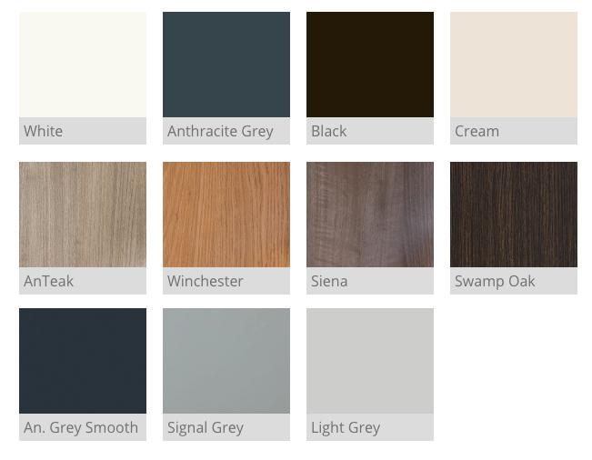 Lumi internal frames colour choice