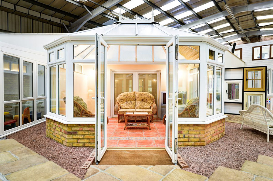 open conservatory in our showroom