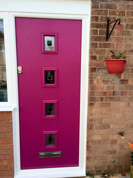 Pink Composite Door installation in Basingstoke