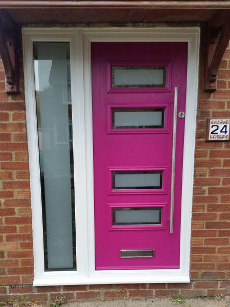 Pink Composite Door in Basingstoke