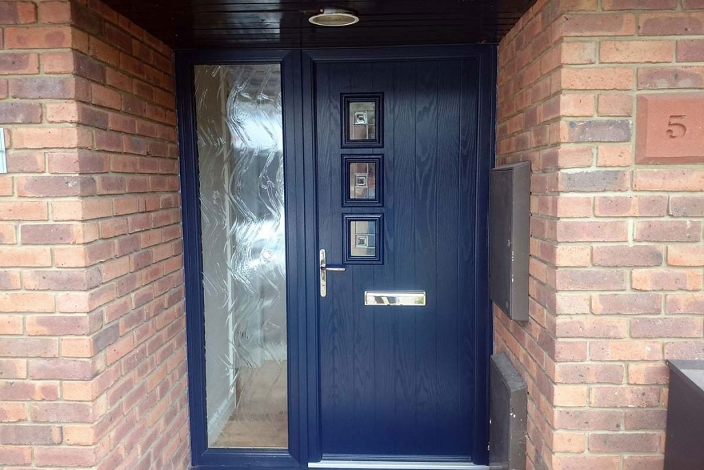 Installation of Blue Composite Doors in Basingstoke