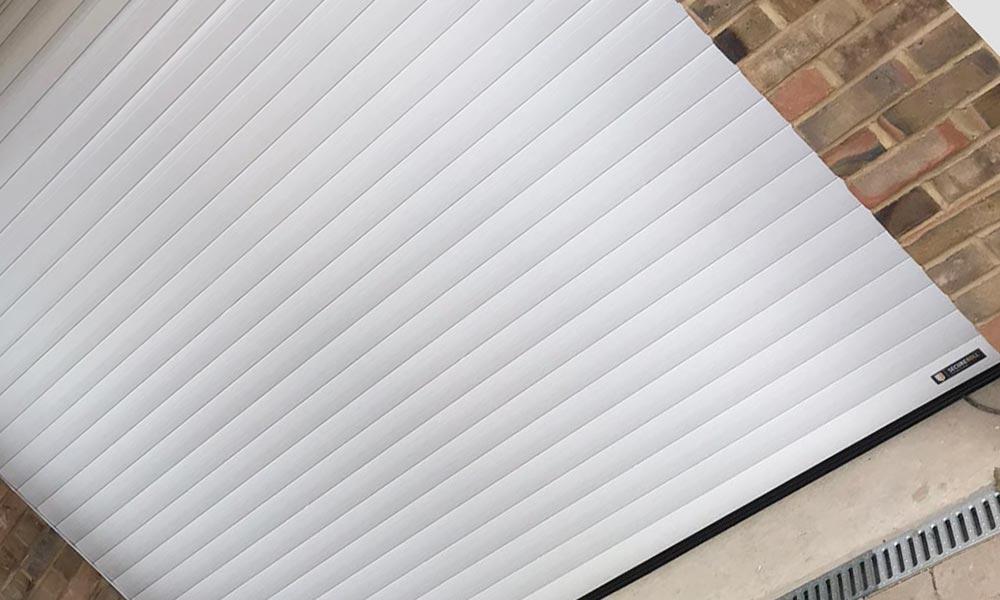 Remote operation white garage door Basingstoke
