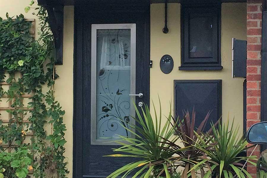 Anthracite Grey Door Installation Basingstoke