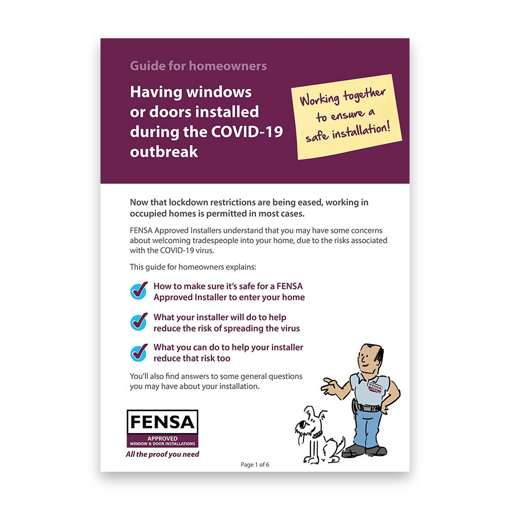 fensa homeowner- guide to installations during covid-19