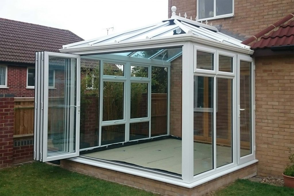 Conservatory with Bifolds open